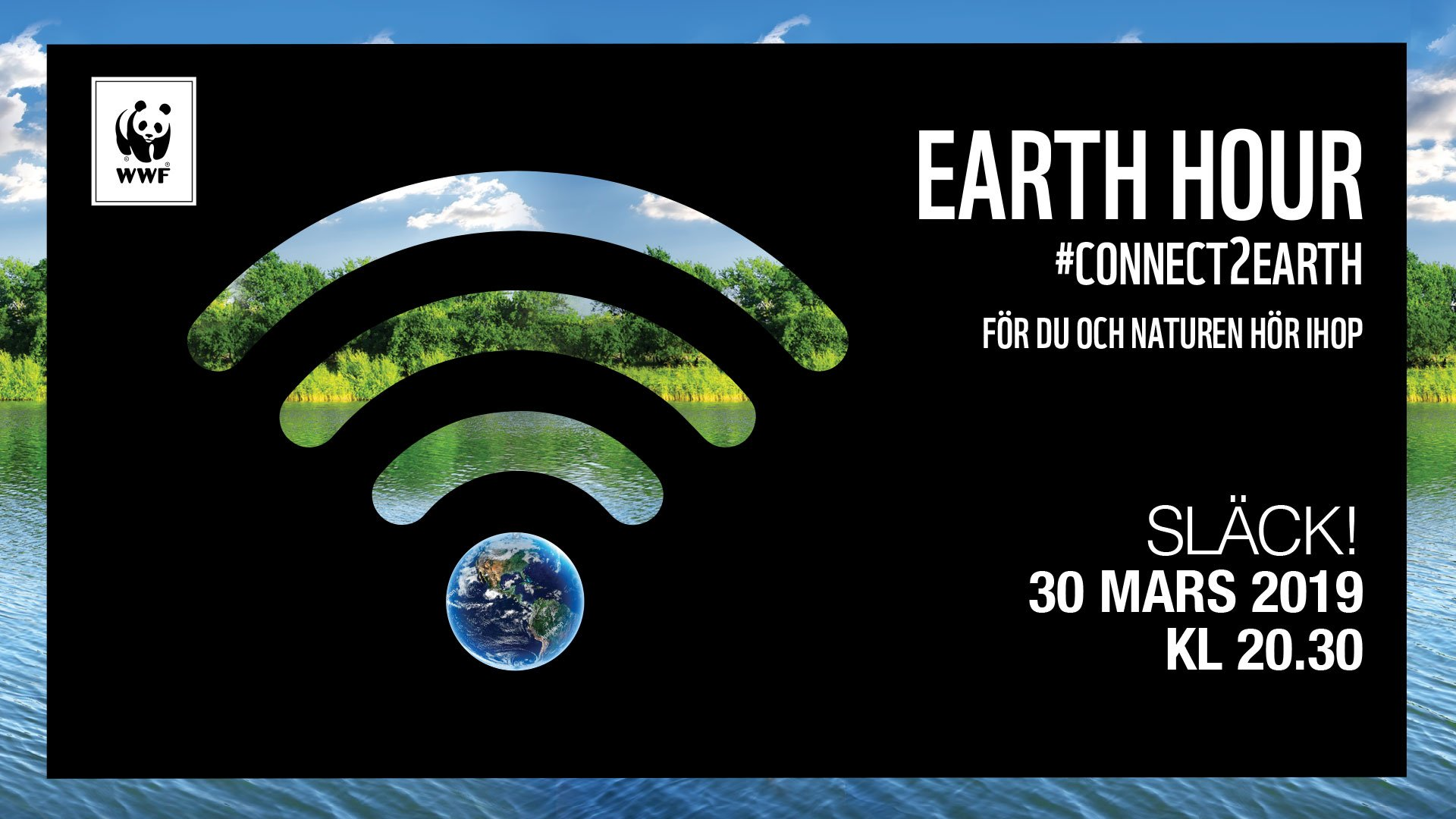 Delta i Earth Hour 2019 - Hagfors kommun
